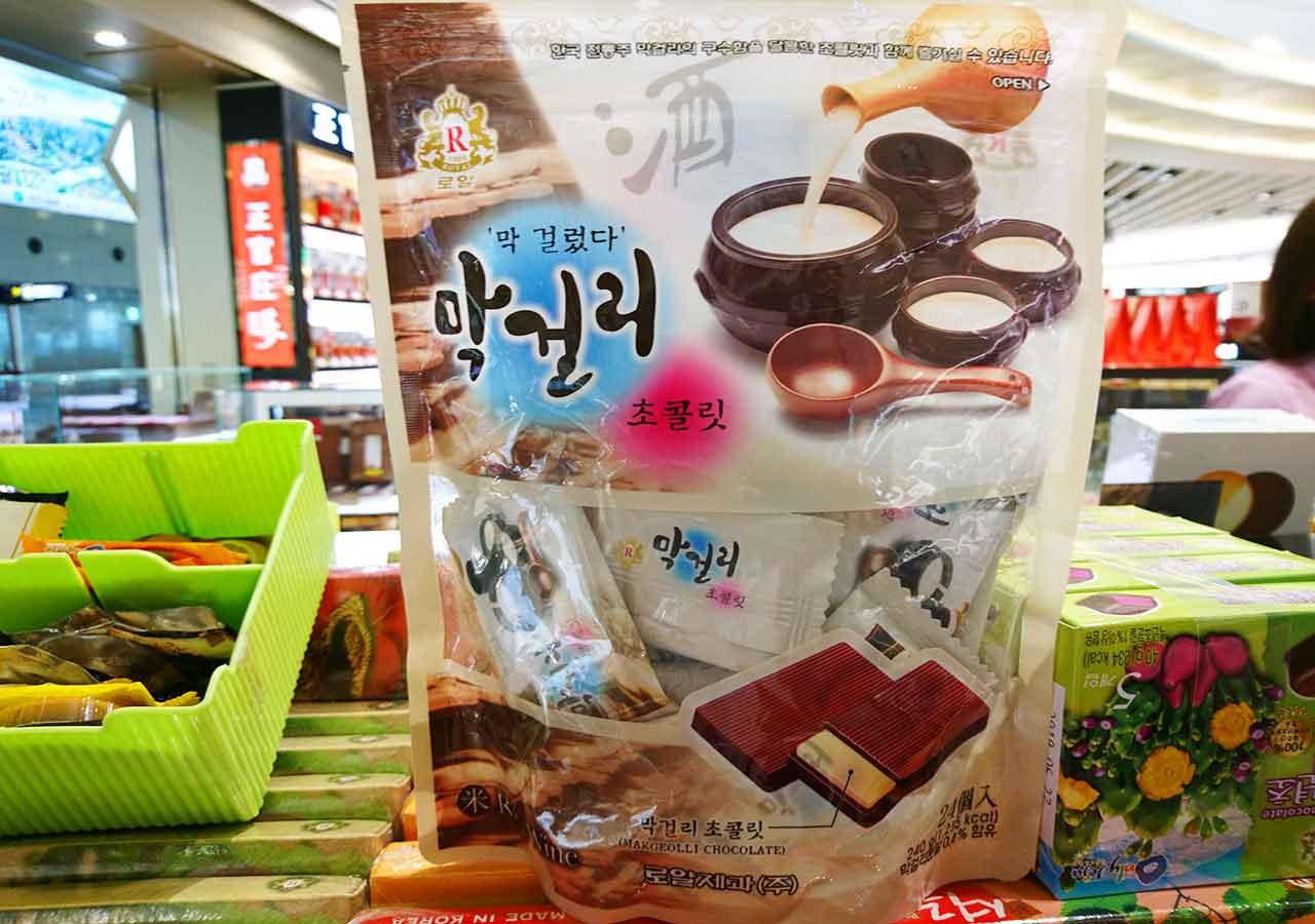 韓国・釜山(プサン)のお土産 マッコリチョコレート