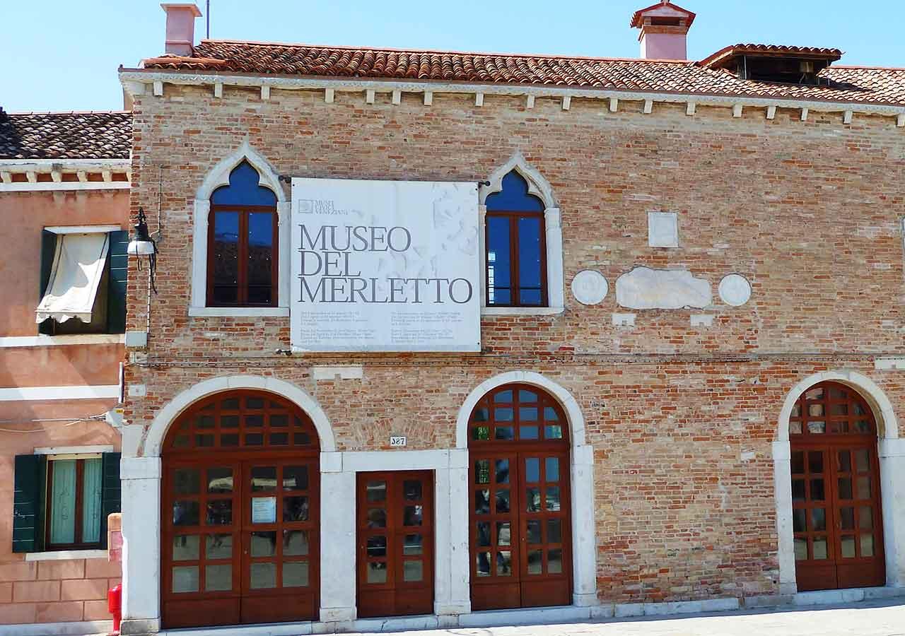 ベネチアの離島ブラーノ島 レース博物館
