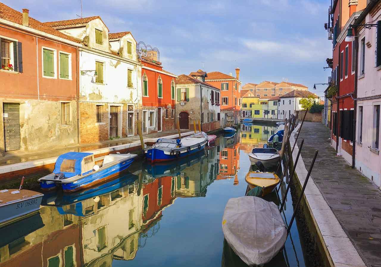 ベネチアの離島ムラーノ島 ムラーノ島の街並み