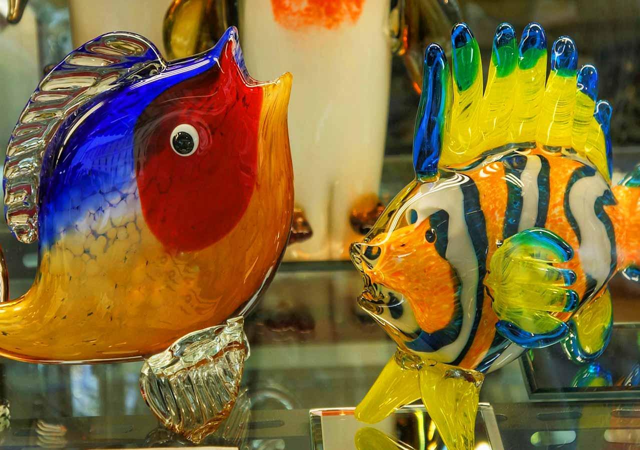 ベネチアの離島ムラーノ島 ガラス製品 お土産