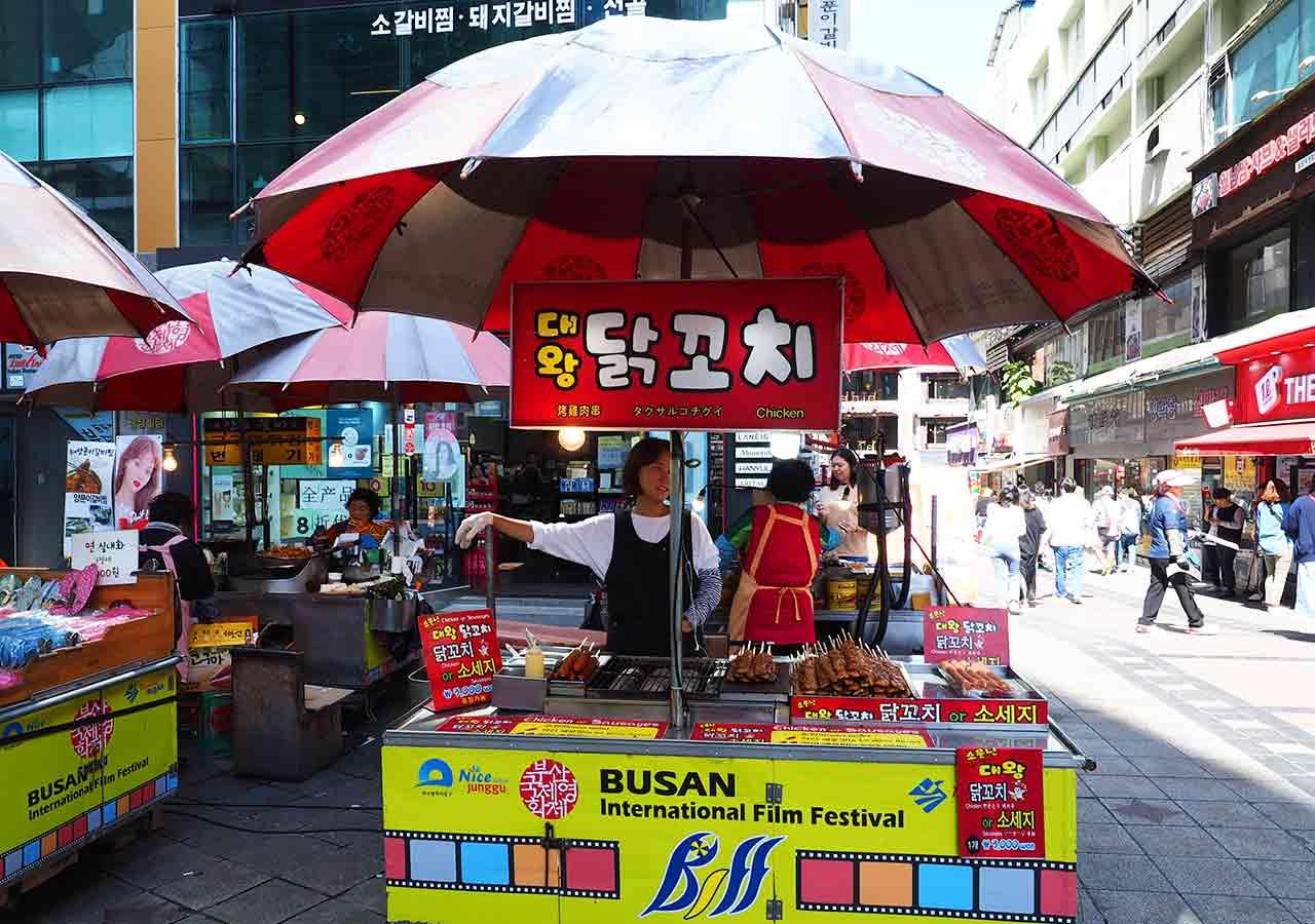 釜山観光 BIFF広場の屋台