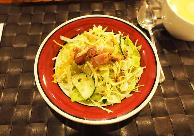 熊本県阿蘇 エル・パティオ牧場 夕食のサラダ