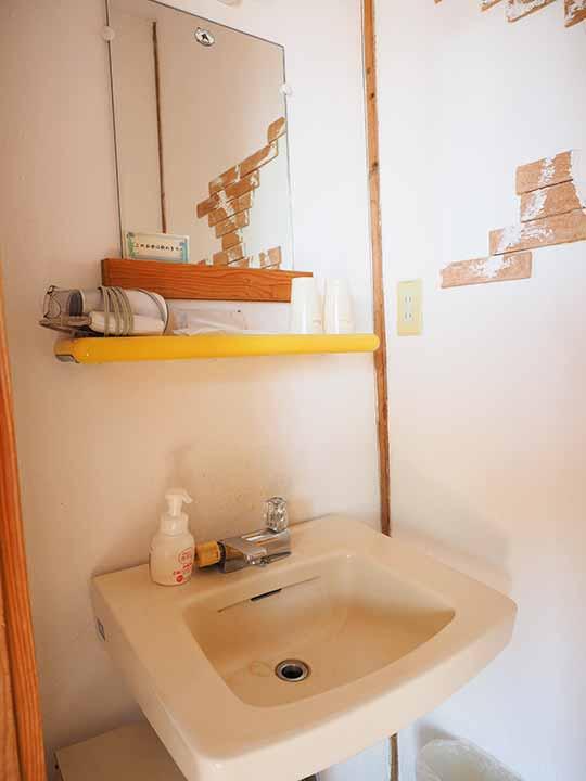 熊本県阿蘇 エル・パティオ牧場 部屋の洗面台