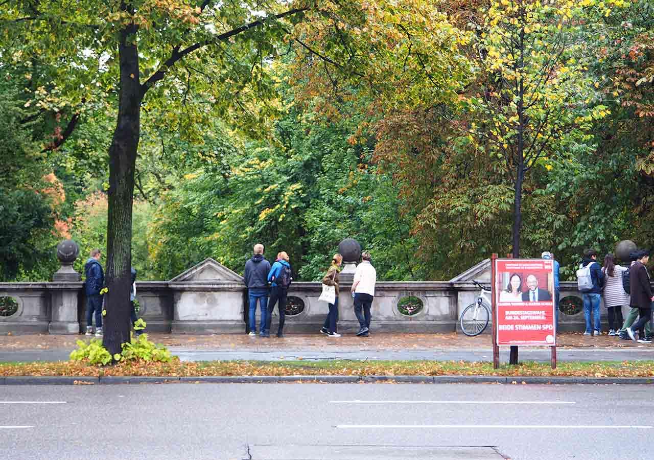 ミュンヘン観光 エングリッシャーガルテン(Englischer Garten) アイスバッハ