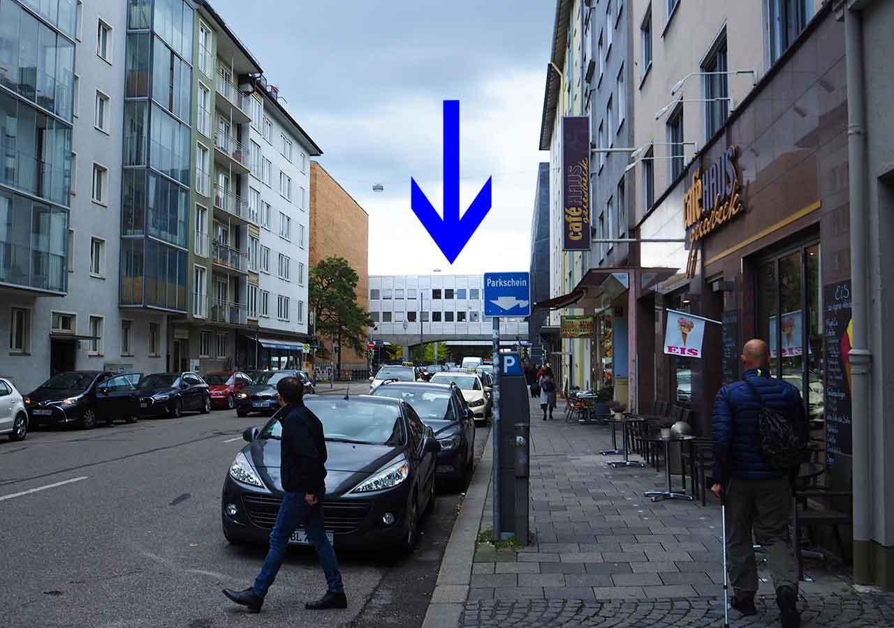 ミュンヘン観光 おすすめカフェ ミュンヘン工科大学の行き方 連絡通路