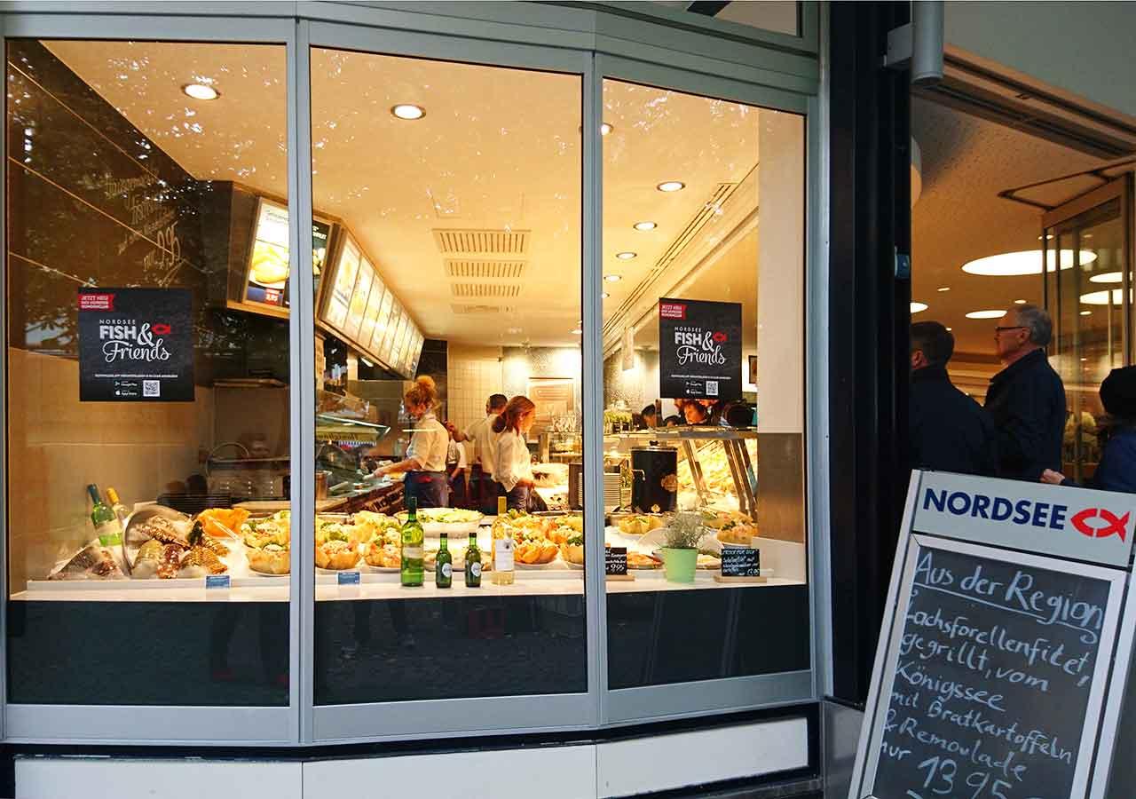 ミュンヘン観光 ヴィクトアリエンマルクト(Viktualienmarkt) ノルトゼー(Nordsee)