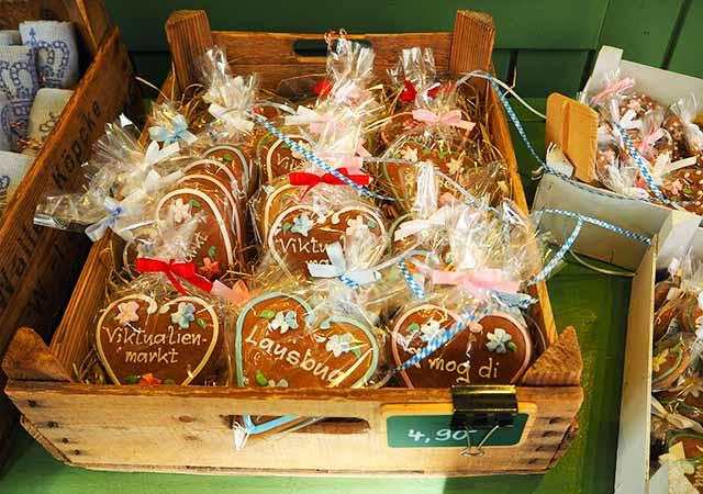 ミュンヘン観光 ヴィクトアリエンマルクト(Viktualienmarkt) お土産屋さん レープクーヘン(lebkuchen)
