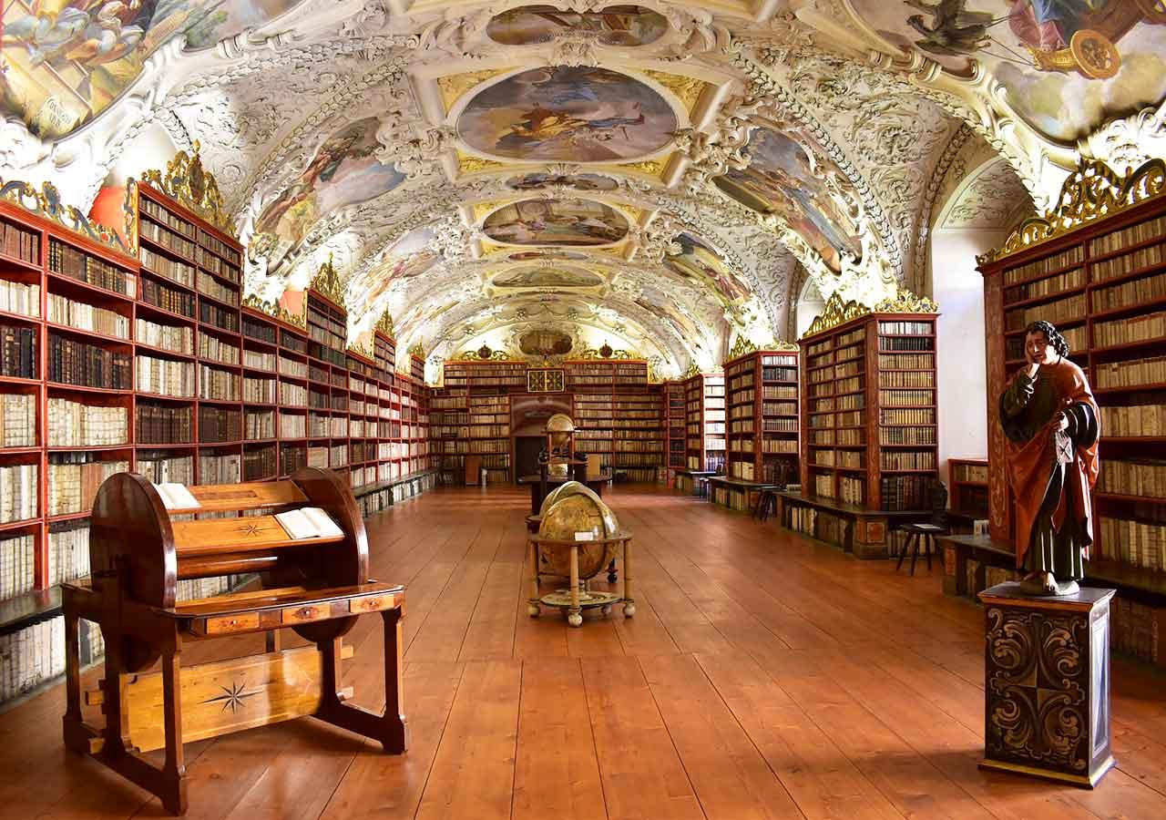 プラハ観光 ストラホフ修道院(Strahovsky Klaster)図書館 神学の間