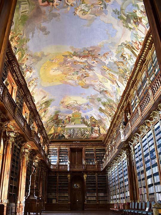 プラハ観光 ストラホフ修道院(Strahovsky Klaster)図書館 哲学の間