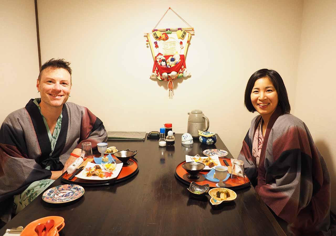 熊本県小国町 わいた温泉郷 旅館 山翠 夕食の部屋