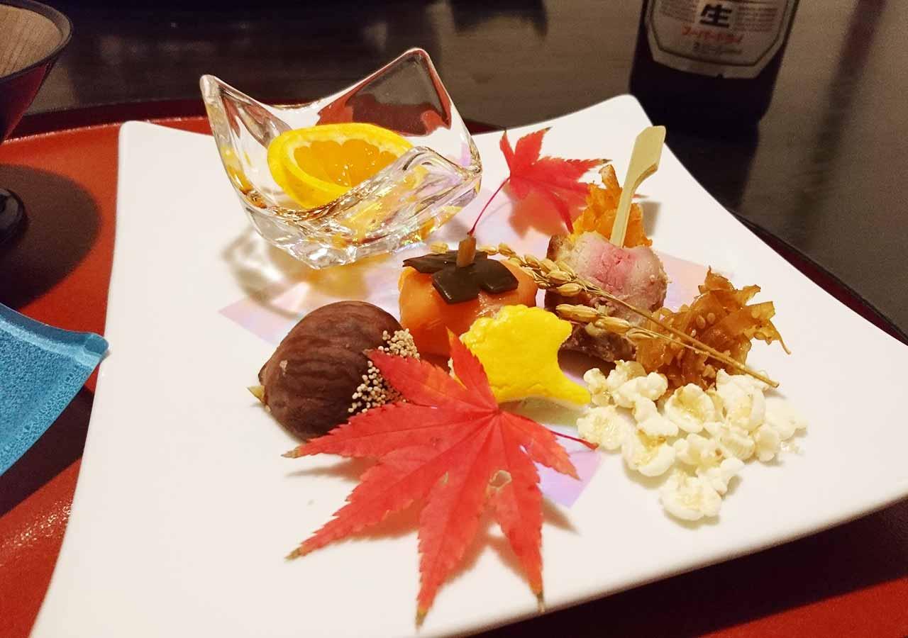 熊本県小国町 わいた温泉郷 旅館 山翠 夕食の前菜