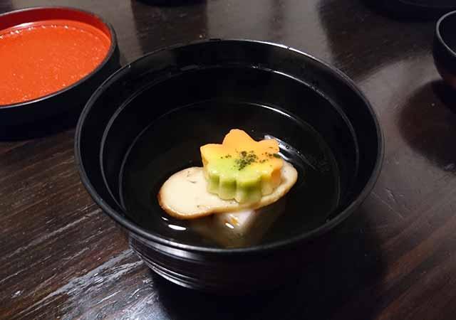 熊本県小国町 わいた温泉郷 旅館 山翠 夕食 お吸い物