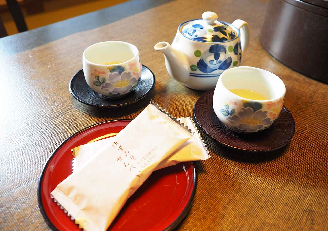 熊本県小国町 わいた温泉郷 旅館 山翠 客室のテーブル