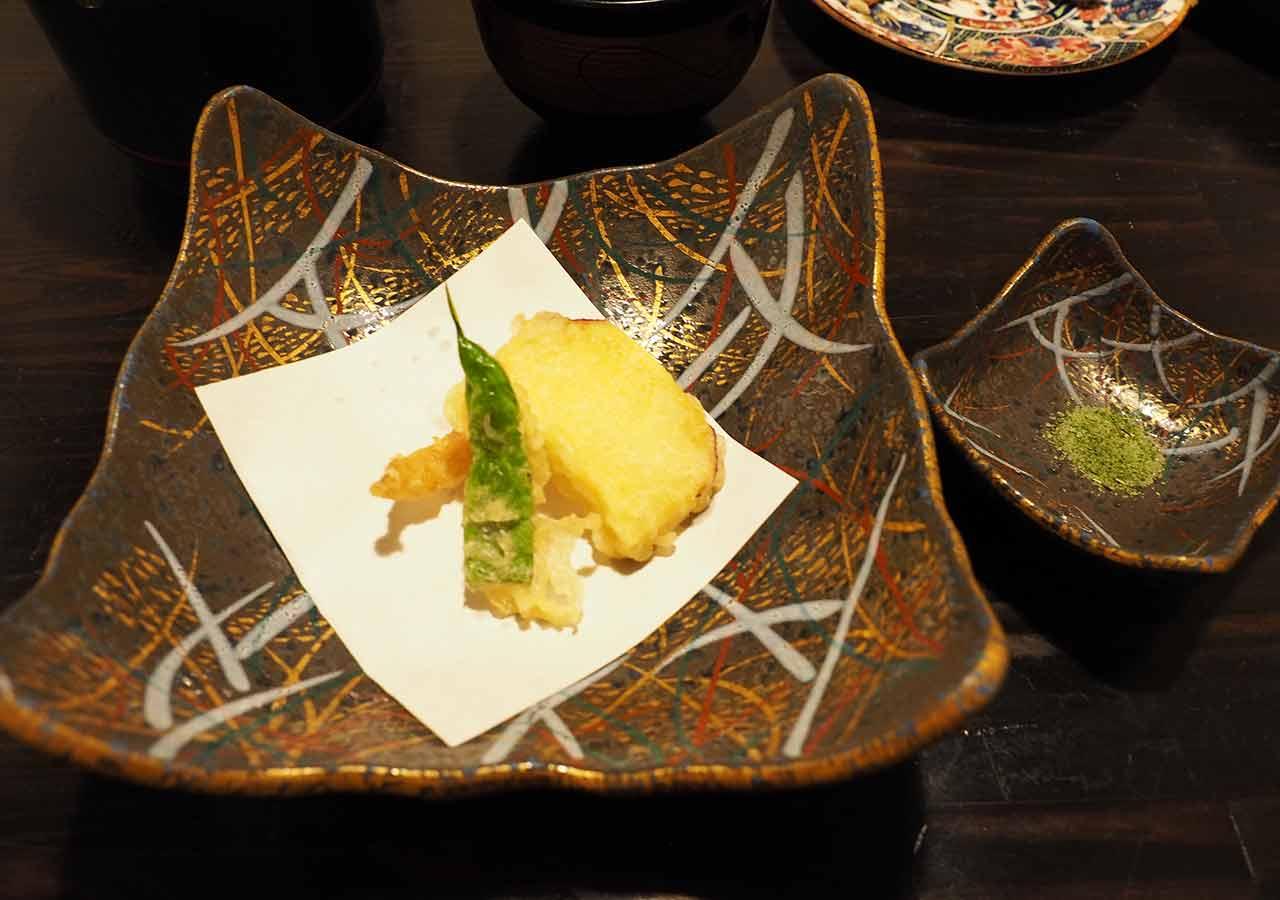 熊本県小国町 わいた温泉郷 旅館 山翠 夕食 てんぷら