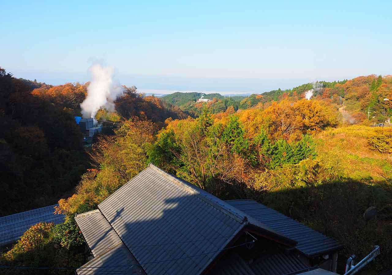 熊本県小国町 わいた温泉郷 旅館 山翠 客室からの眺め