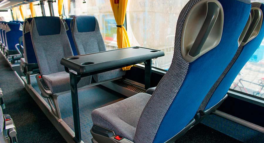 ミュンヘン観光 ルフトハンザ・エクスプレス・バス(Lufthansa Express Bus) 車内