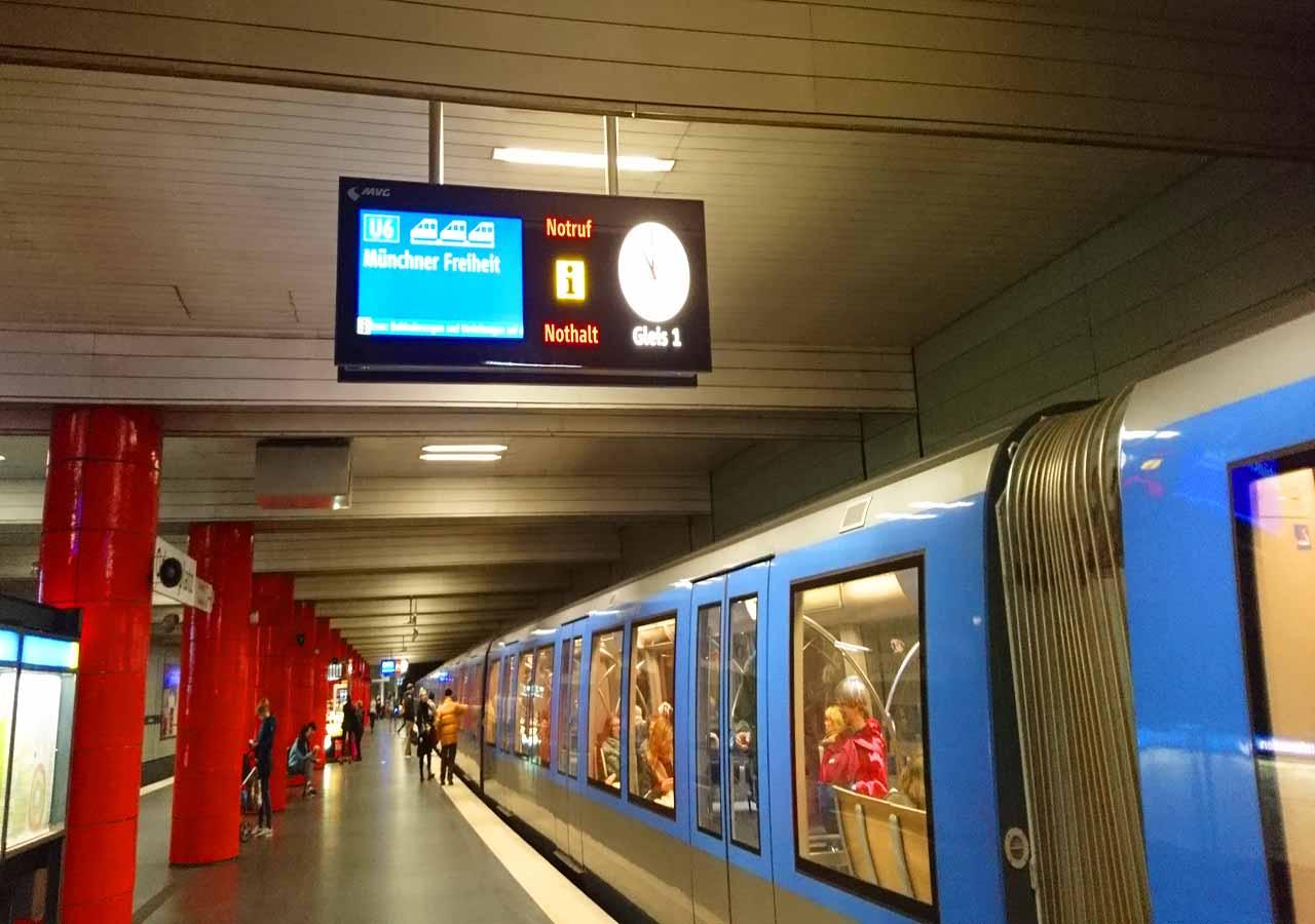 ミュンヘン観光 ミュンヘンの電車