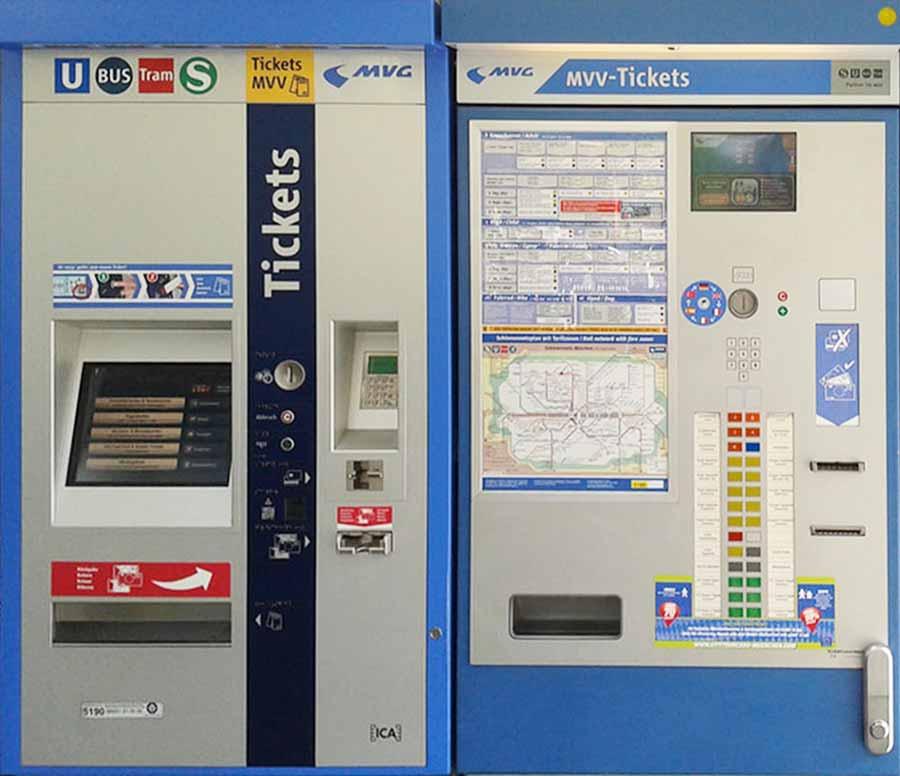 ミュンヘン観光 公共交通機関 切符の自動券売機