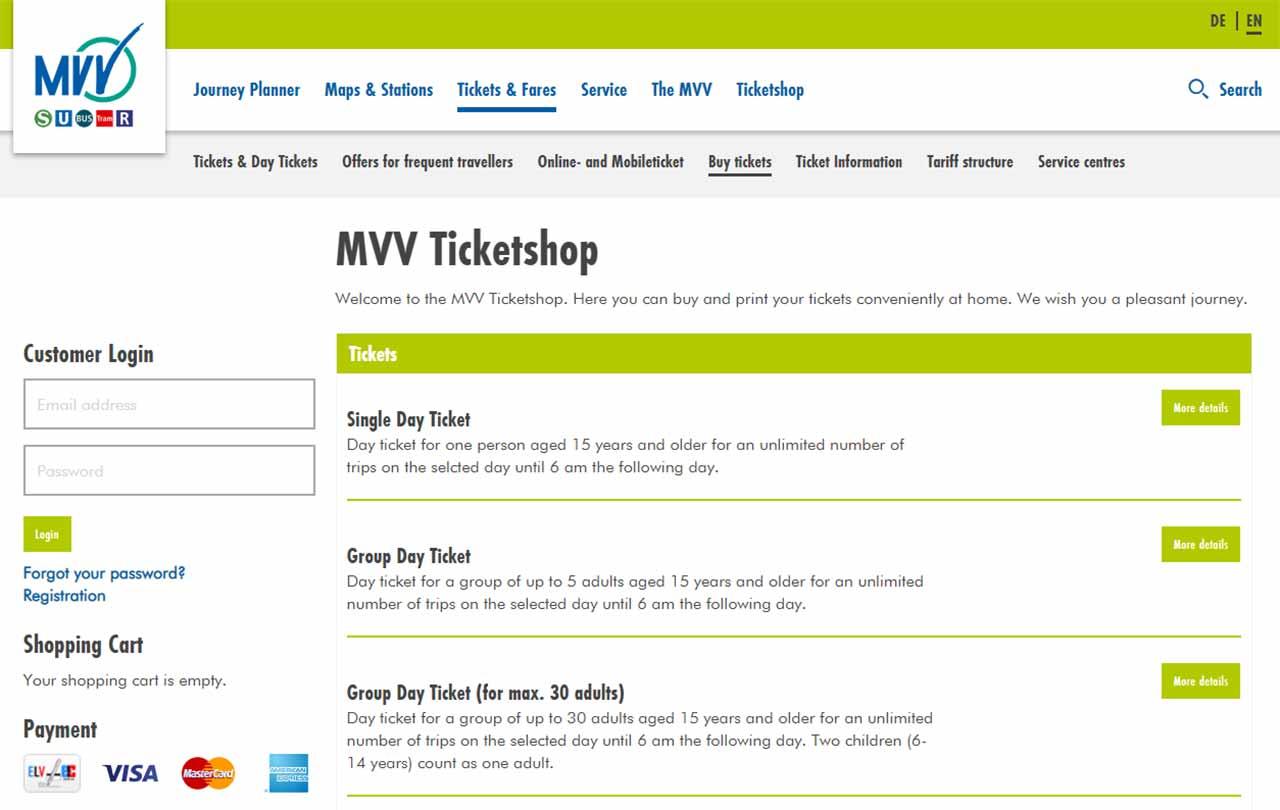 ミュンヘン観光 公共交通機関 切符をオンラインで購入する方法