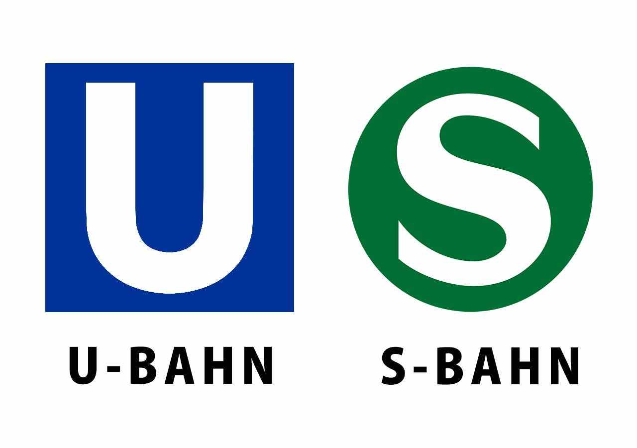ミュンヘン観光 公共交通機関 地下鉄Uバーンと電車Sバーンの標識