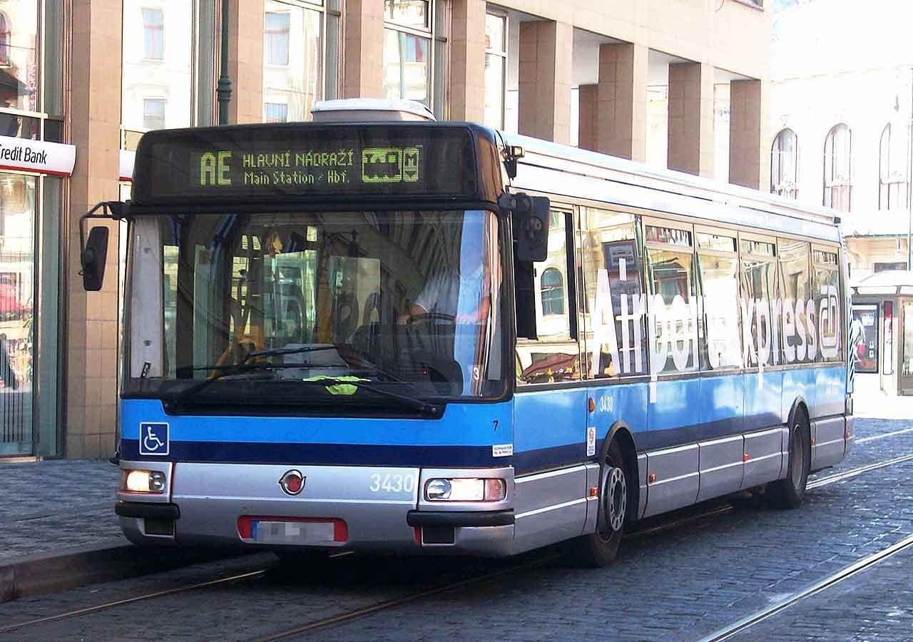プラハ旅行 プラハ空港から市内のアクセス方法 エアポート・エクスプレス・バス(Airport Express Bus)