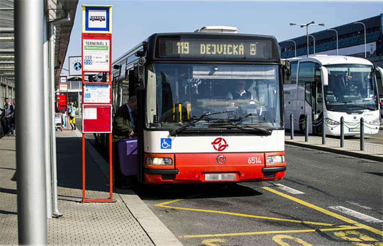 プラハ旅行 プラハ空港から市内のアクセス方法 市営バス
