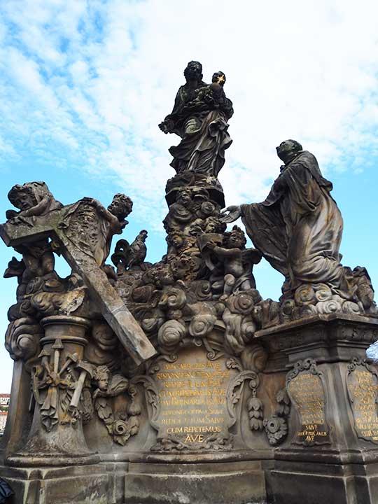 プラハ観光 カレル橋(Charles Bridge) 聖人像