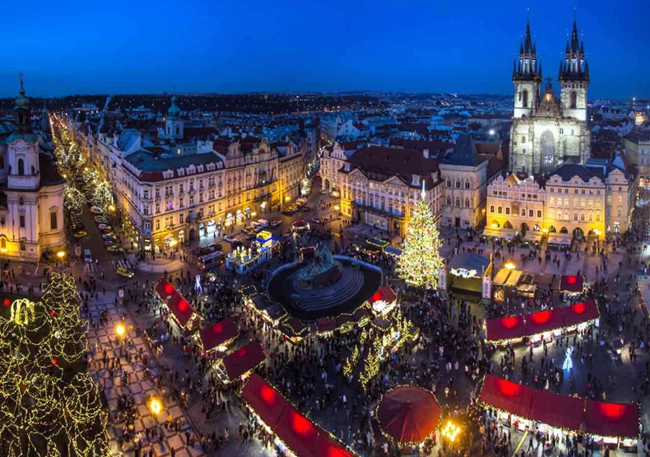 プラハ観光 クリスマスマーケット 旧市街広場(Staroměstské náměstí) ヴァーツラフ広場(Václavské náměstí)