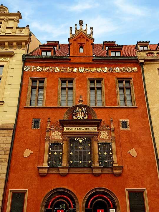 プラハ観光 旧市庁舎の塔の入り口