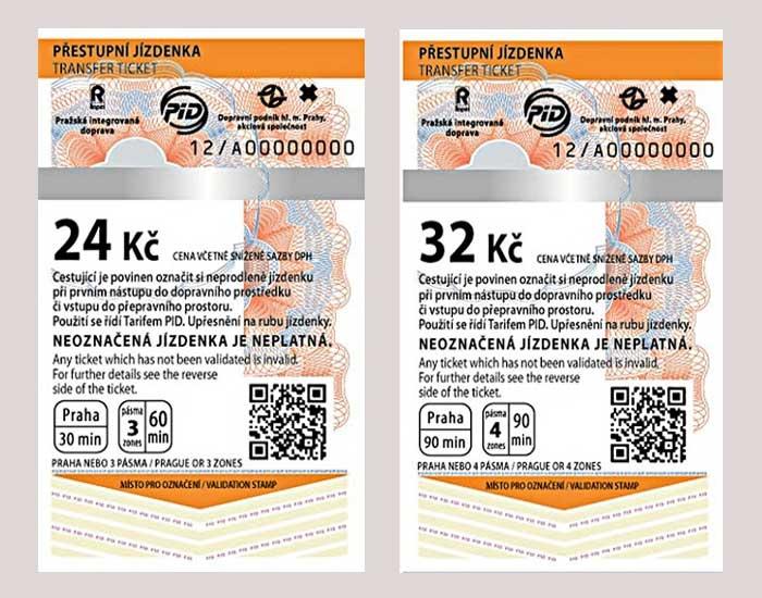 プラハ観光 公共交通機関 チケット