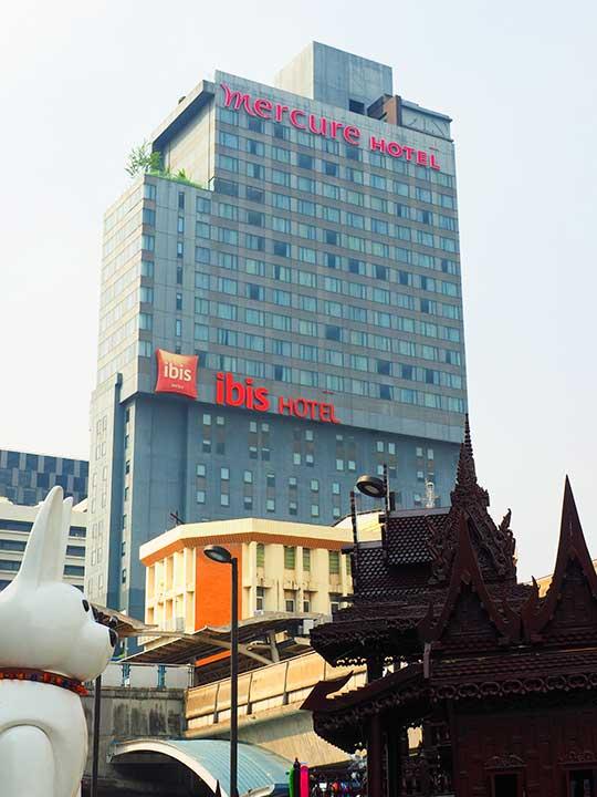 バンコク・サイアムの立地が便利なホテル イビス バンコク サイアム(ibis Bangkok Siam)
