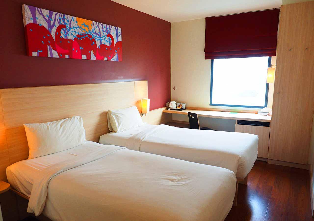 バンコク・サイアムの立地が便利なホテル イビス バンコク サイアム(ibis Bangkok Siam) 部屋