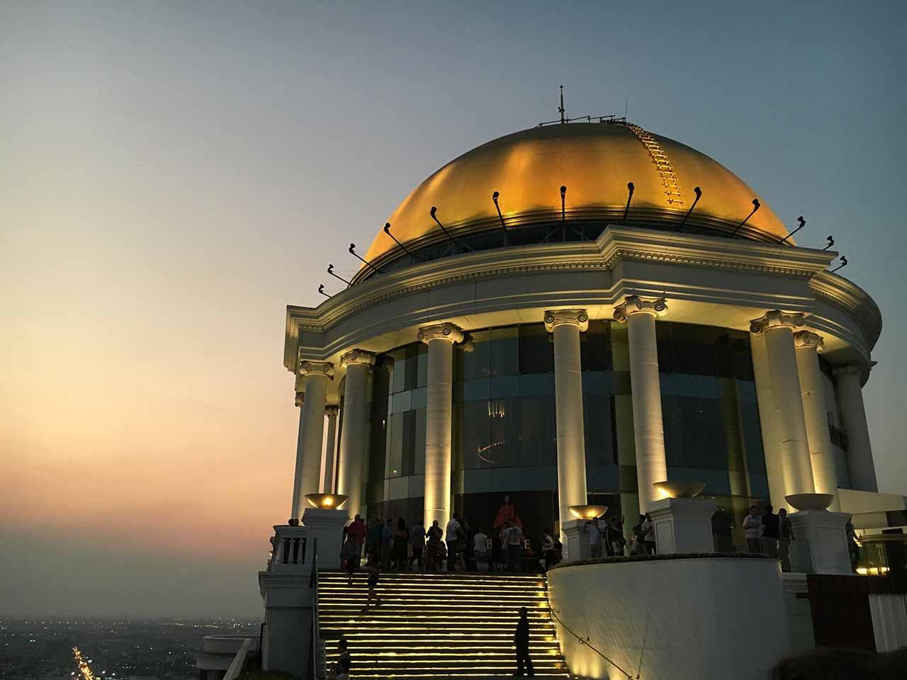 バンコクの5つ星高級ホテル ルブア アット ステート タワー(lebua at State Tower) スカイバー(SKY BAR)