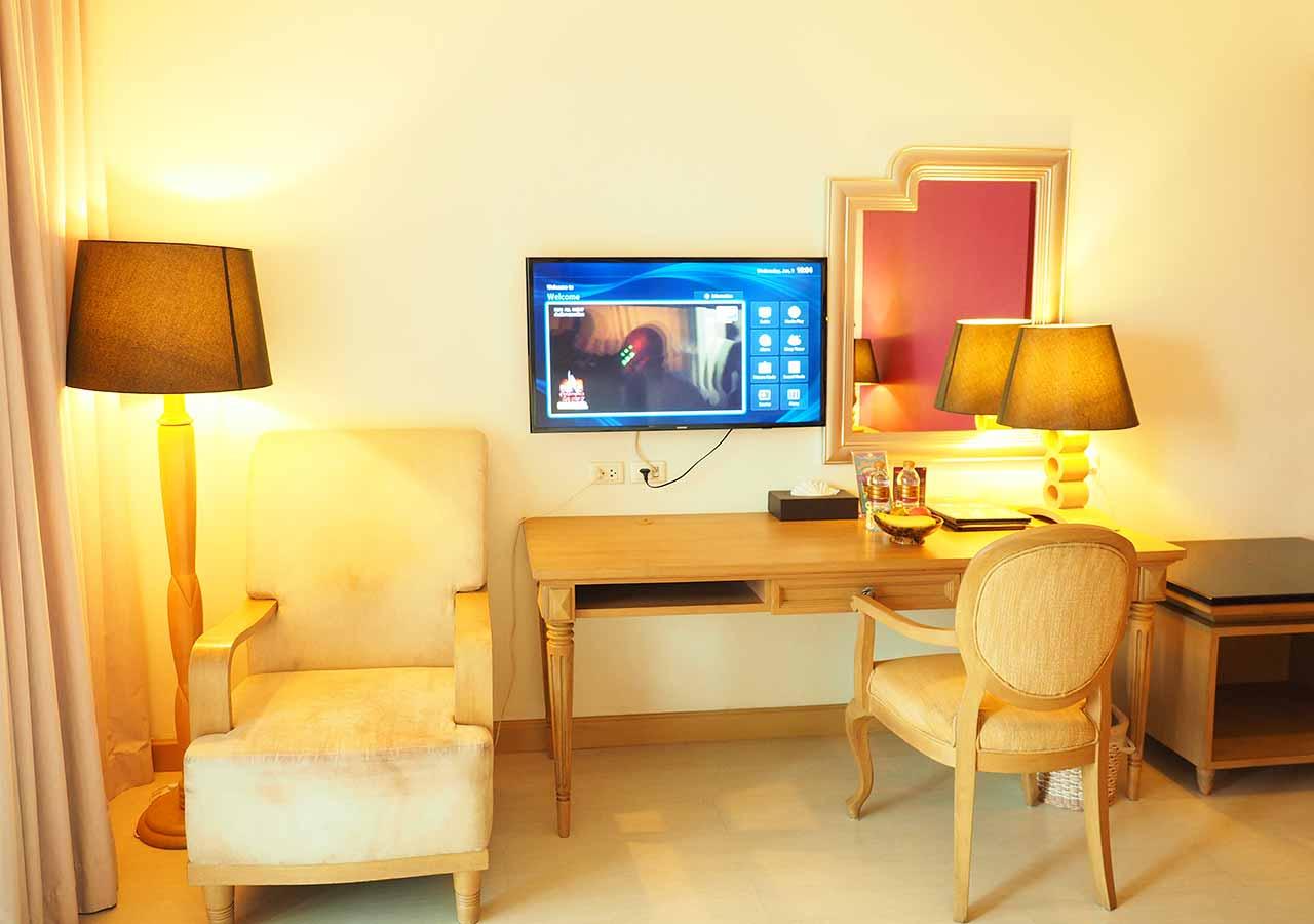 バンコクのリバーサイドホテル ナヴァライリバーリゾート(Navalai River Resort)の客室内設備