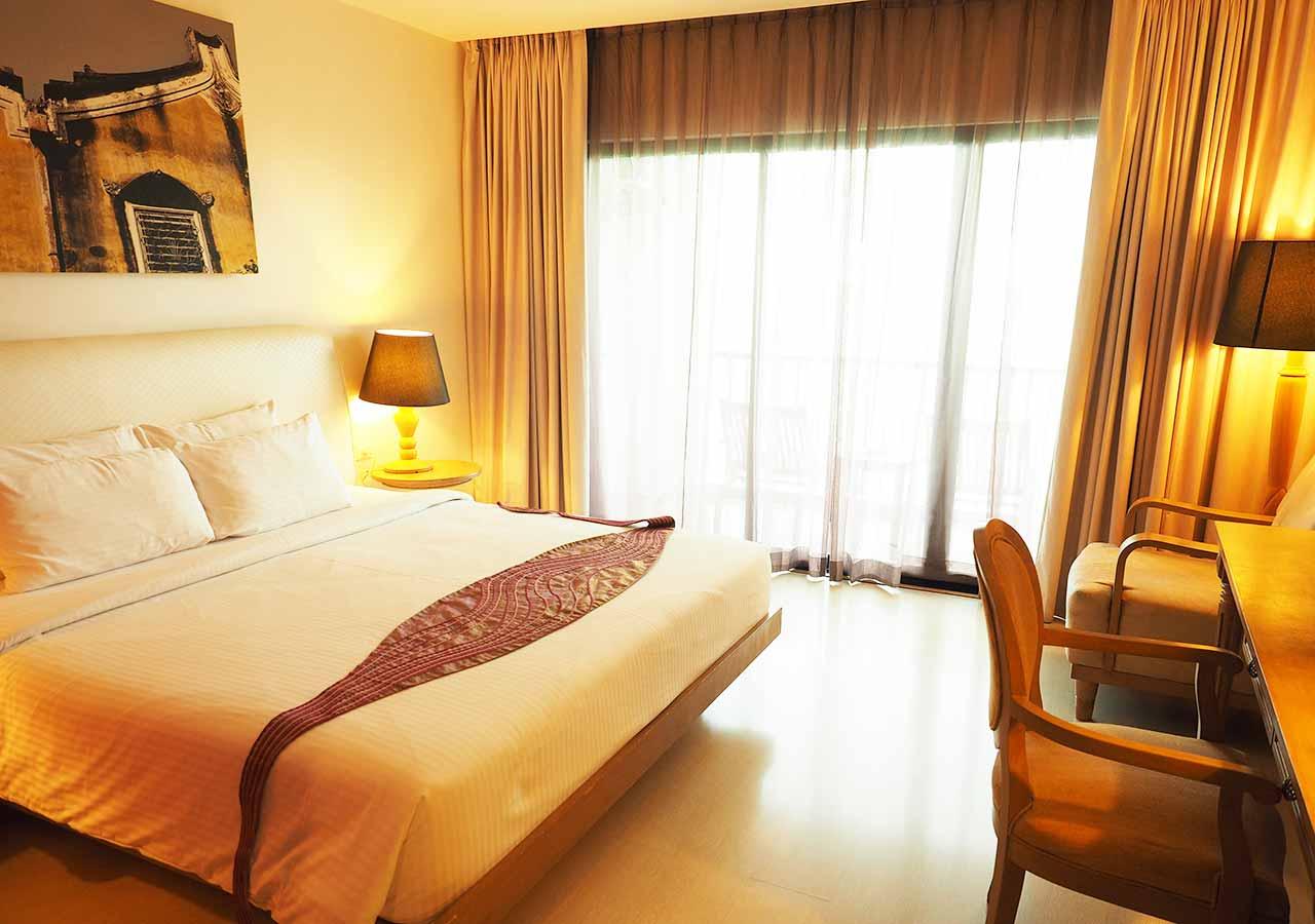 バンコクのリバーサイドホテル ナヴァライリバーリゾート(Navalai River Resort)の客室