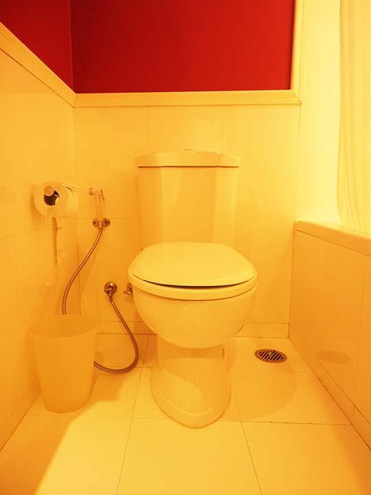 バンコクのリバーサイドホテル ナヴァライリバーリゾート(Navalai River Resort)のトイレ