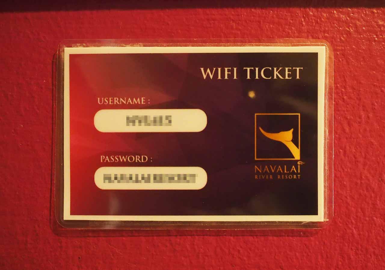 バンコクのリバーサイドホテル ナヴァライリバーリゾート(Navalai River Resort)のWiFiチケット