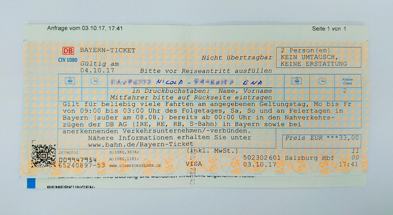 バイエルンチケットの画像