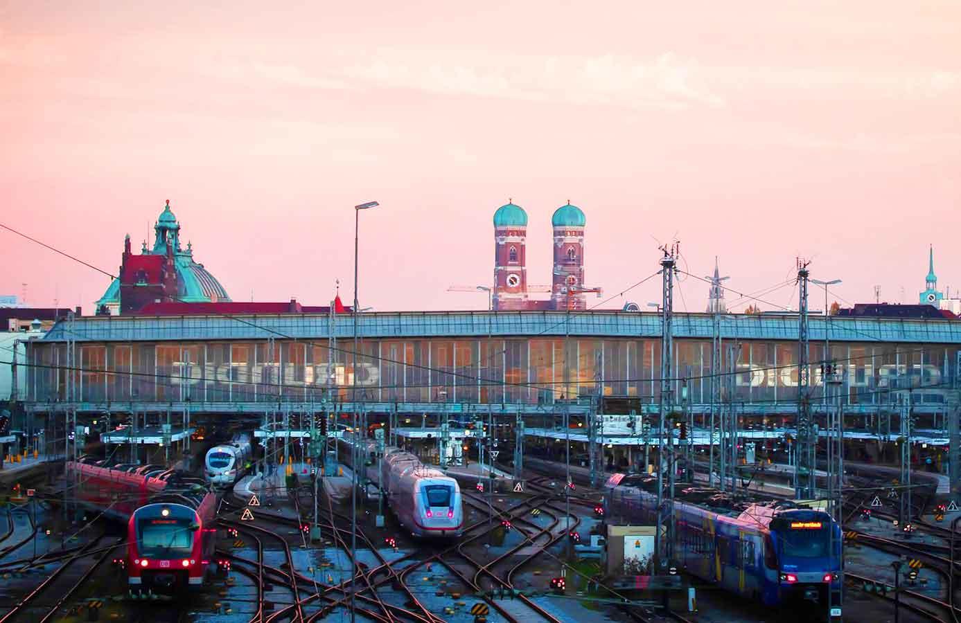 ミュンヘンとベルリンの移動方法 ミュンヘン中央駅の画像