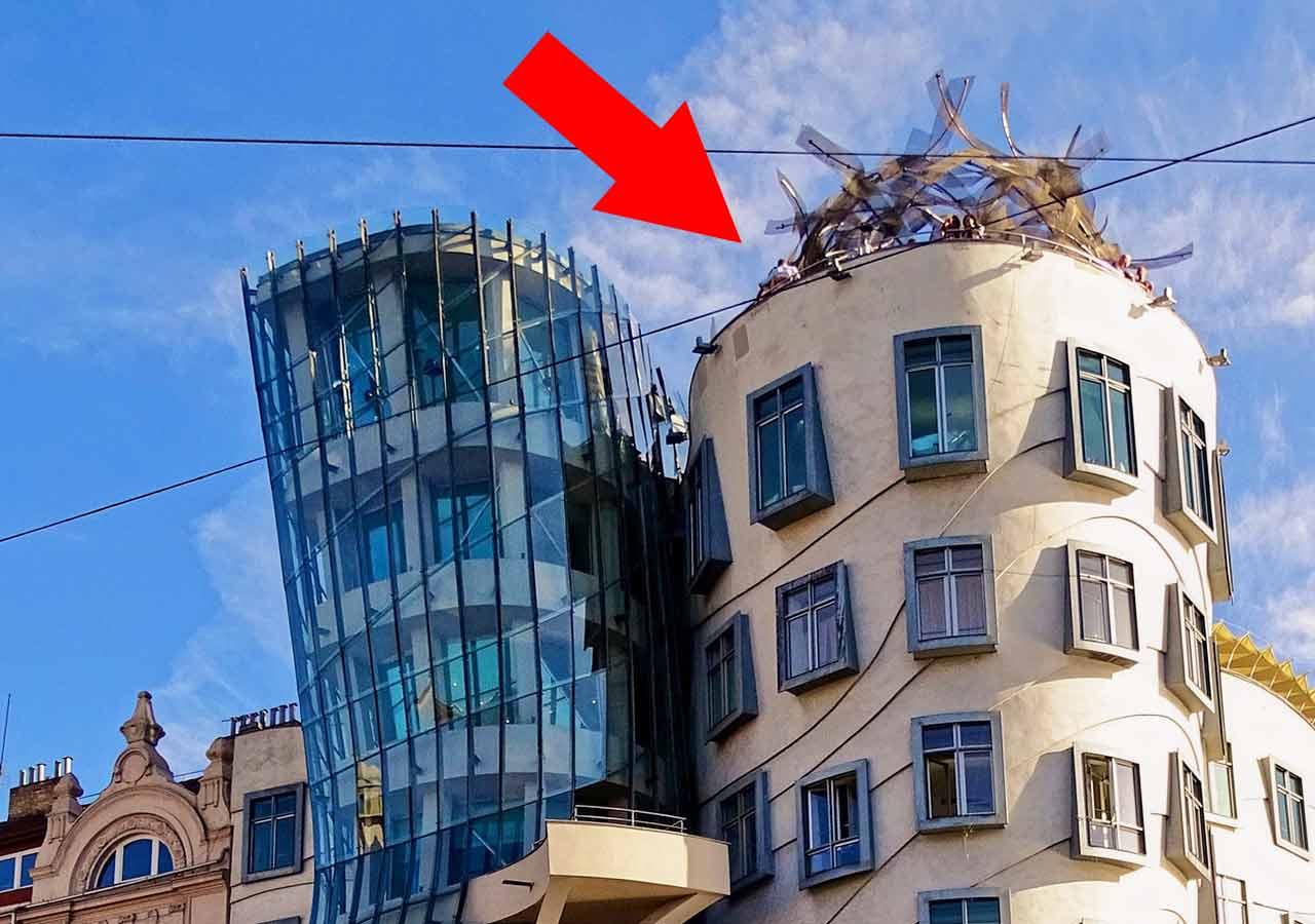 プラハ観光 ダンシングハウス(Dancing House)の展望テラス