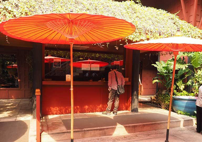 バンコク観光 ジムトンプソンの家(Jim Thompson House) チケット売り場