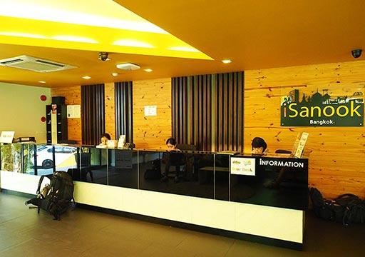 バンコク・シーロムの格安ホテル アイサノック バンコク(iSanook Bangkok)のレセプション