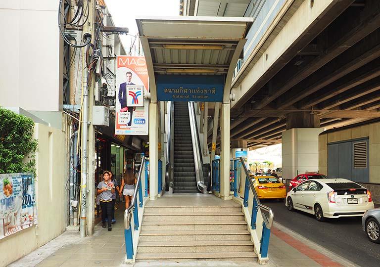 バンコク観光 ナショナルスタジアム駅