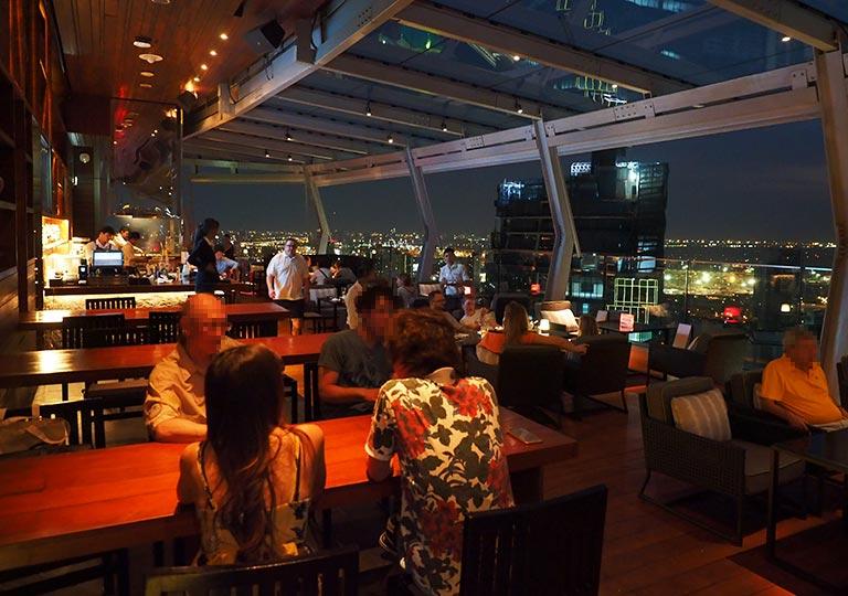 バンコク観光 ルーフトップバー「オクターブ(Octave)」 45階のレストラン