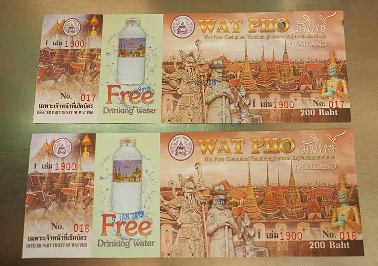 バンコク観光 ワットポー(Wat Pho)チケットの画像