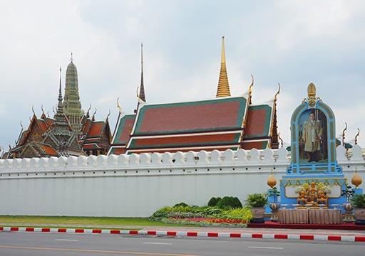 バンコク観光 ワットプラケオ(Wat Phra Kaew) 周囲の堀