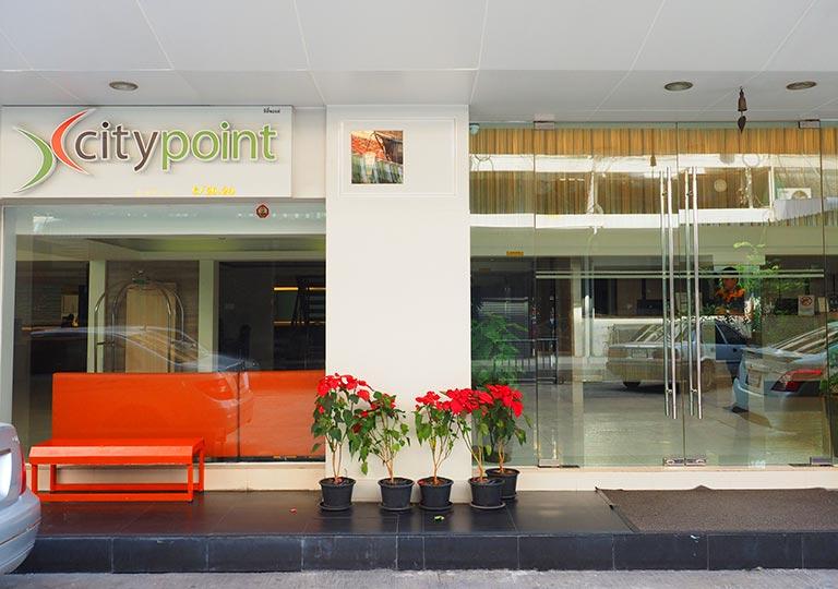 バンコク・スクンビットの格安ホテル シティ ポイント ホテル(CityPoint Hotel) 入り口