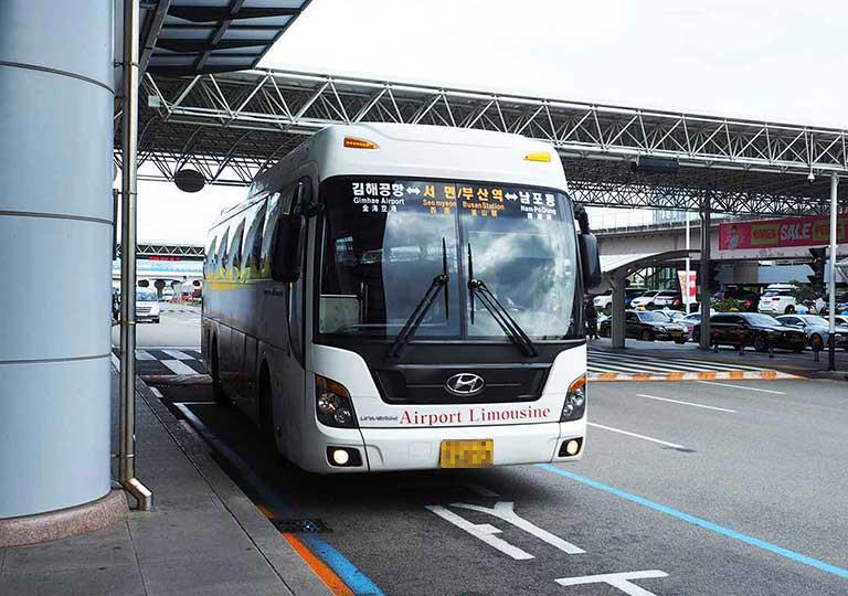 釜山金海空港から市内のアクセス 空港リムジンバスの画像