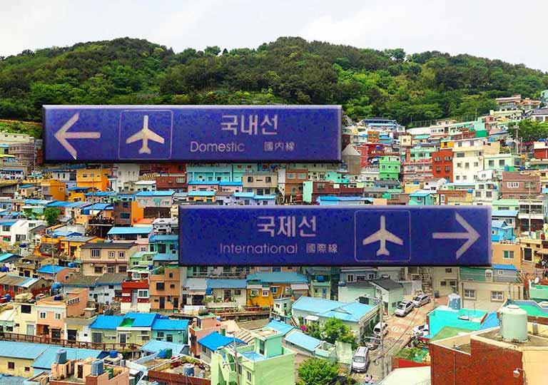 釜山金海空港から市内のアクセス 空港の画像