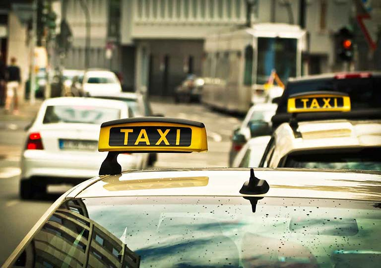 釜山金海空港から市内のアクセス タクシーの画像